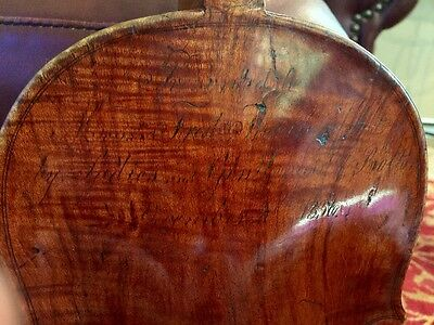 18th-19th Century English Violin Presented By City Bolton England In 1836 Named