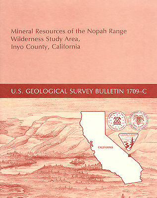 Tecopa, Nopah Range, Inyo, Calif, SCARCE report, UNTOUCHED SILVER MINES, maps !