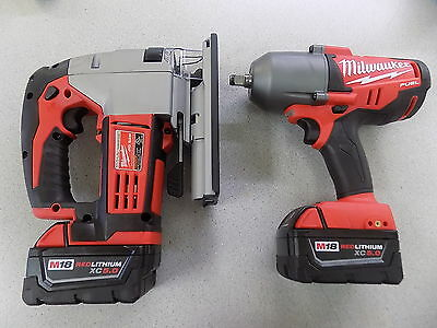 Milwaukee FUEL 2763-20 18V 1/2 Impact Wrench & 2645-20 M18 Cordless Jig Saw