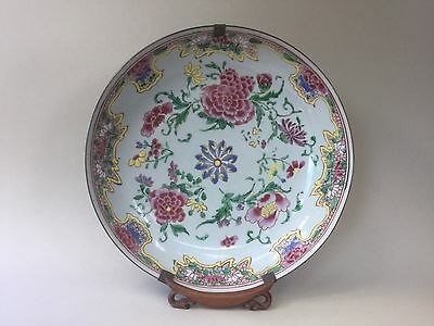 """18th Century Large Chinese Qianlong Famille Rose Plate / Dish 11.2"""""""
