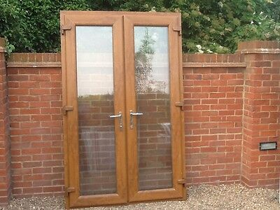 Exterior external upvc double french doors in frame 250 - Upvc double front exterior doors ...