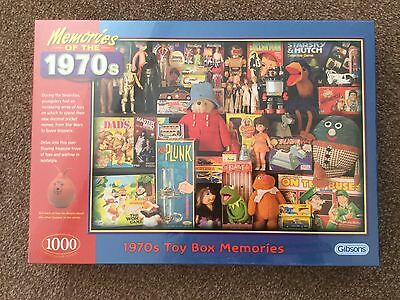 """1000 Piece Gibsons Jigsaw Puzzle """"memories Of The 1970's  Brand New"""