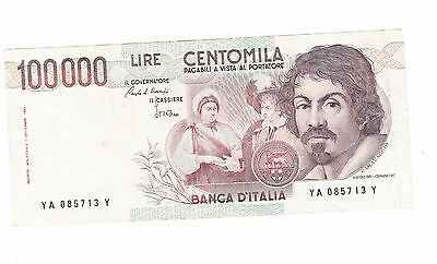 100.000 CENTOMILA LIRE CARAVAGGIO x1   please see high resolution pictures N°1