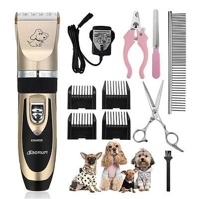 Pet Grooming Clippers, Focuspet Rechargeable Cordless Low Noise Dog Clippers...
