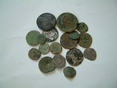 Lot of 17 French Medieval & post medieval coins