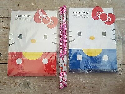 Hello Kitty 2 notebooks and 2 pencils