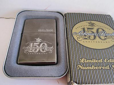ZIPPO LIGHTER: 0533/5000 BREWING HERITAGE New 150 Anheuser Busch 1852-2002 ANN.