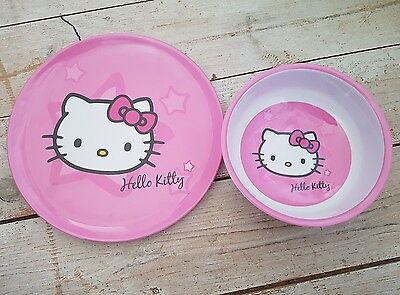 Hello Kitty melamine plate and bowl brand new