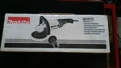 "Makita 9227C 7"" Electronic Polisher Buffer Hook & Loop NEW Electric Tool Sander"