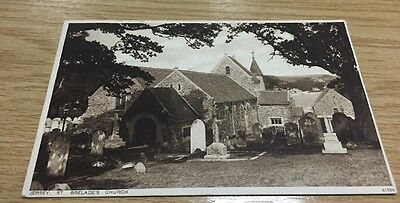 St Brelade's Church - Jersey - Postcard - Posted