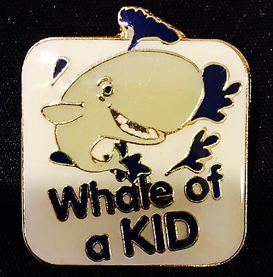"""""""Whale of a KID"""" Enamel Lapel Pins/13/All new!!!"""