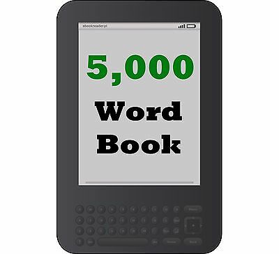 Digital Book Writing Services - 5000 Word Book on Any Topic - Kindle Print