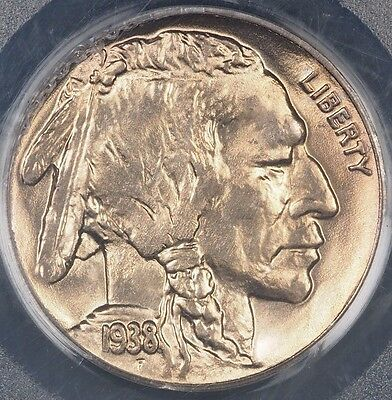 1938-D Buffalo Nickel PCGS MS66 5C