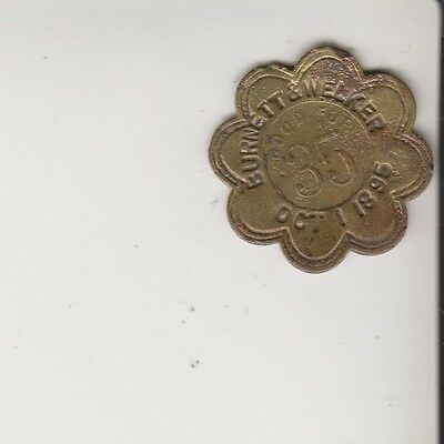 unlisted Paris Texas Trade Token (barber shop) dated 1895 Aug. kern reverse