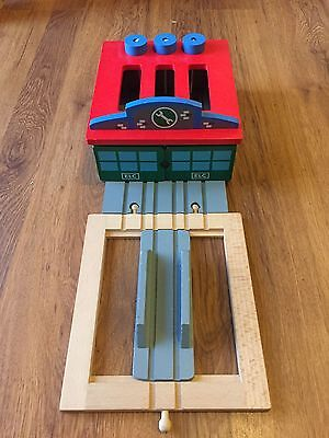 ELC Triple Engine Shed for Brio / Wooden Train Track