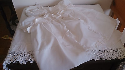 VINTAGE 5 PCE Baby Christening Dress Clothes 4 Composition Bisque Reborn HP Doll
