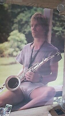 The Police STING with saxophone 1981 Scanlite Poster ORIGINAL. Great image