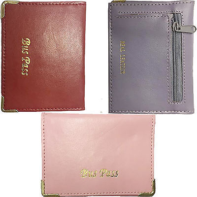 OYSTER Travel Card Holder Genuine Leather Credit Bus Pass Cover Bank Coin Wallet