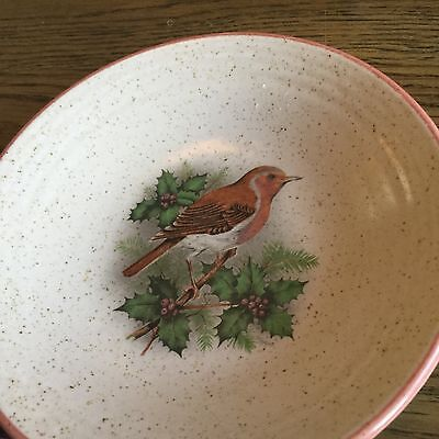 Purbeck pottery small robin dish