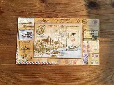 Indien Block Stamps 2011. 100 years Airmail. Indipex. Tadellos Postfrisch**. Top