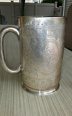England  Makers Sterling Silver Mug Cup 1880