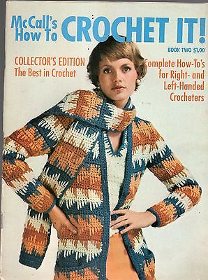 1974 McCALL'S HOW TO CROCHET IT MAGAZINE-BOOK TWO-COLLECTOR'S EDITION-BEST OF