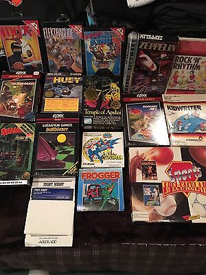 """Vintage Atari And Commodore 64 Games 5.25"""" Some With Box And Instructions-Lot"""
