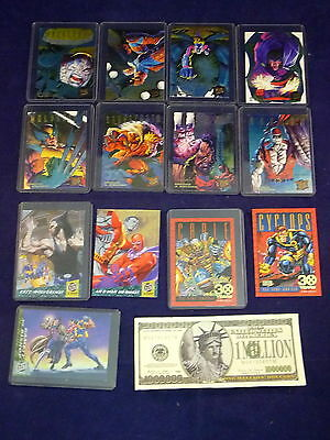 Marvel Trading Cards X-Men Hunters Stalkers Ultra X-Men M/NM Sleeves Lot 14