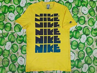 Vintage Vtg 70S 80S Limited Edition Nike Block Letter Pinwheel 2 Sided T Shirt