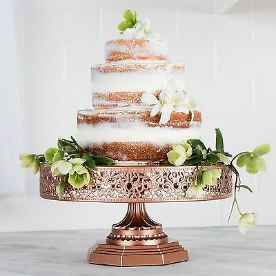 "Amalfi Decor Wedding Cake Stand 12""/30cm Vintage Round Metal Cupcake Party Tower"