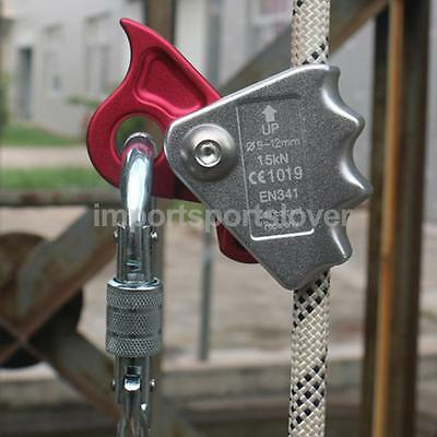 15Kn Safety Rock Climbing Tree 9Mm-12Mm Rope Grab Protecta Equipment Gear