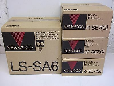 Rare Boxed Kenwood R-SE7,X-SE7,DP-SE7, Home HiFi  Systems / Disc -Made in Japan