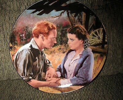 """Gone With The Wind Collector Plate, """"Scarlett Ashley After the War"""", W.L.George"""