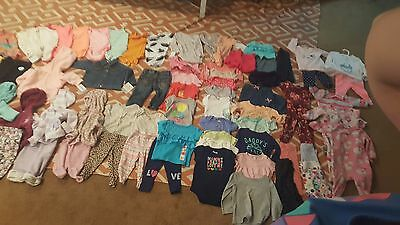 *70 pieces *Baby Girl Lot size 6-9 month Carters, guess, h&m and cat&jack brands
