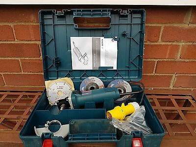 Bosch110v 850w Angle Grinder in Case & Diamond Blade & More BRAND NEW