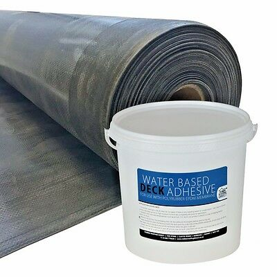 Shed Roof Felt Alternative EPDM Membrane & WBA Adhesive for Flat Rubber Roofing