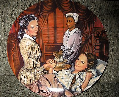 """Gone With The Wind Collector Plate, """"Melanie Gives  Birth"""", Edwin M.Knowles"""
