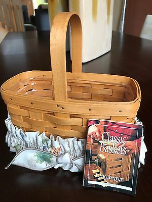 Longaberger Candle Basket w/skirt and Plastic Liner #19739 - 1999