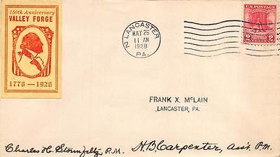 645 2c Valley Forge, First Day Cover Cachet, Lancaster, PA cancel [E233111]