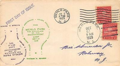 654 2c Electric Light Jubilee, First Day Cover Cachet [E233143]