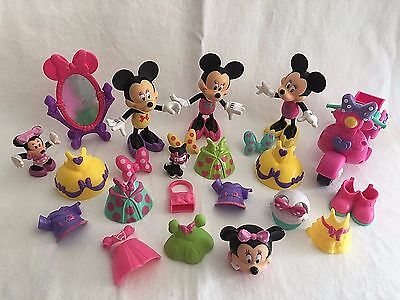 Disney Minnie Mouse Bow-Tique 3 Snap N' Style Dolls & Accessories 28pcs Scooter
