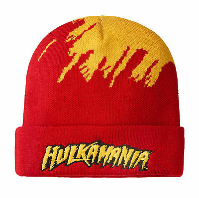 Wwe Hulk Hogan Hulkamania Beanie Hat Official New Rare