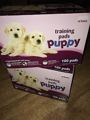 2 boxes of 100 Pets at Home Puppy Training Pads