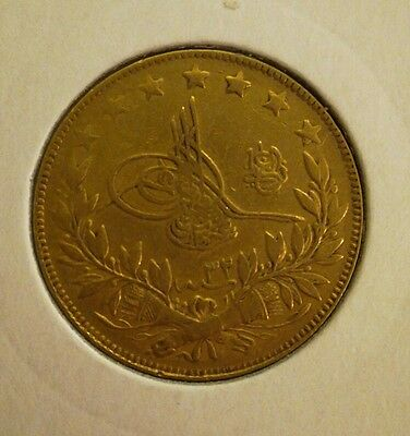 100 kurush Turkish Gold Coin 22ct 1876 AH1293 year 33 rare Collectable