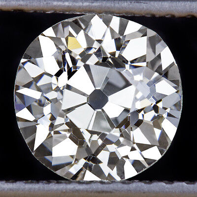 1.50ct GIA CERTIFIED VINTAGE I VS2 OLD EUROPEAN CUT DIAMOND LOOSE ANTIQUE ROUND