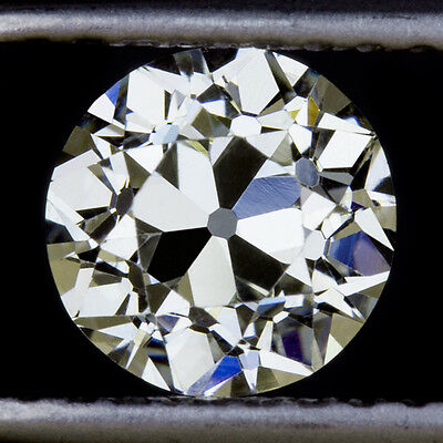 GIA CERTIFIED 0.85ct VINTAGE K VS1 OLD EUROPEAN CUT DIAMOND LOOSE ANTIQUE MINE