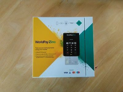 Nearly New (used twice) WorldPay Zinc Chip And Pin Reader Card Machine