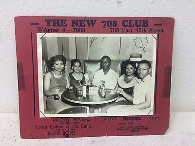 Muddy Waters Souvenir Promo Photo New 708 Club Chicago 1950's Little Walter