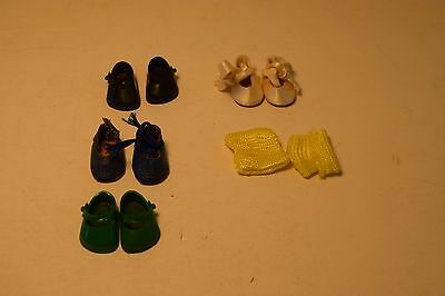 Vintage Lot Of 5 Pairs Ginny Doll Shoes