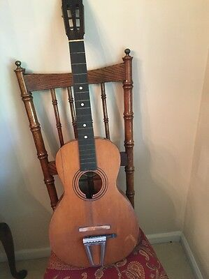 Antique Guitar By Eugene Howard For Parts Or Repair